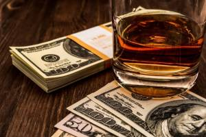 alcohol money